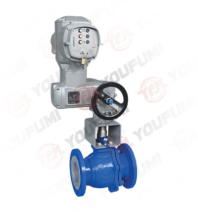 Electric Lined O port Ball Valve
