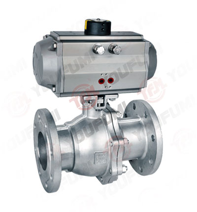 Pneumatic SS Ball Valve