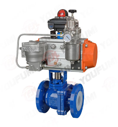 PFA Lined O port Ball Valve
