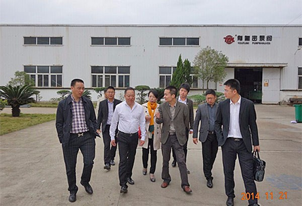 Lei Zhang, Deputy director of the  Wenzhou  Policy Research Office  and  director  of  county  visited  YFM-Fujian factory on 21th, Nov, 2014